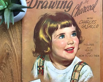 Vintage Art Magazine - Drawing in Charcoal
