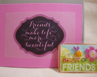 friend card. friend magnet, friendship card, friendship magnet, friend, friendship, friendship gift, friend gift, cute friend magnet,  (503)