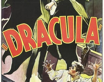 Summer Sale DRACULA Movie Poster Horror Vampire Bela Lugosi 1931