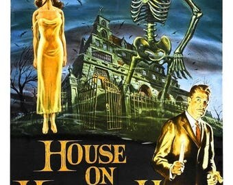Summer Sale The HOUSE On HAUNTED HILL Movie Poster 1958