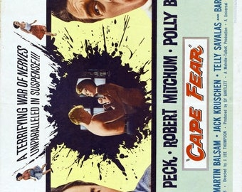 Summer Sale CAPE FEAR Movie Poster 1962 Gregory Peck