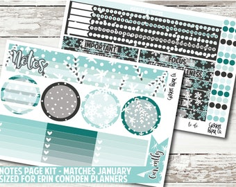 Notes Page Kit for EC Planners