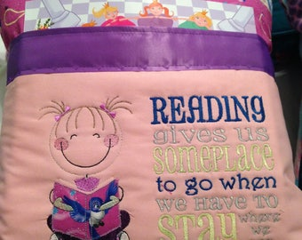 Build your own Pocket pillow child or adult reading pillow Build Your Own choose image saying colors and fabric
