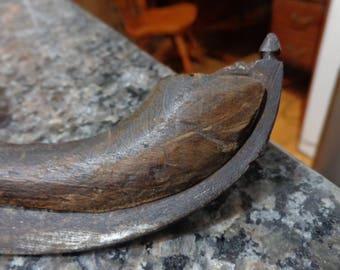 """vintage Dutch wooden speed skates 15"""" blades"""