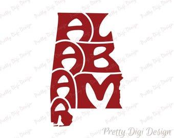 Alabama Wall Decor alabama logo | etsy