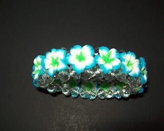Hawaii Stretch Bracelet Blue Green