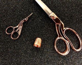 Rose Gold Scissor Gift Set