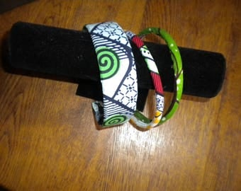 headband for child or adult African fabric glued on top