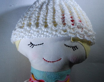 Doll hat, knitted doll hat, baby doll hat