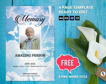 custom funeral program template microsoft publisher word