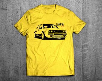 Lancia Delta shirts, Lancia Classic t shirt, cars shirts, men shirts, women shirts classic car shirts, Italian Rally shirts, Lancia Delta HF