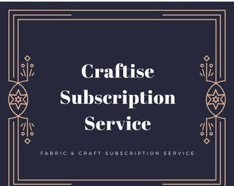 10% OFF Small Fabric and Craft Subscription Bag, Monthly Subscription Service, Subscription Box for Crafters