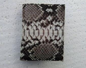 Handmade Python Snakeskin Leather Wallet. MEN'S BIFOLD WALLET. Natural Python Snakeskin Wallet. Free Shipping