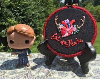 """Hannibal """"Eat the Rude"""" Embroidery"""