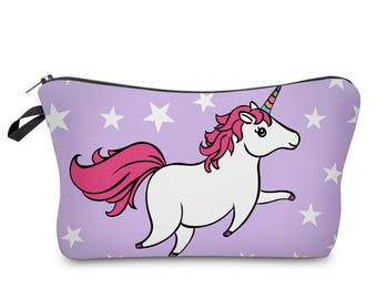 Purple Unicorn Make Up Bag