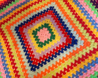 granny square blanket/throw