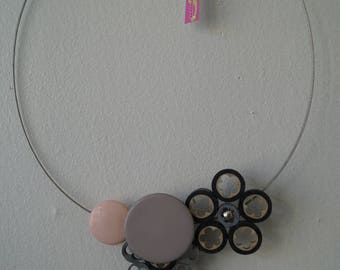 The pale pink electric look Choker necklace