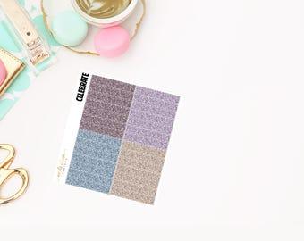 Celebrate Glitter Headers, planner stickers