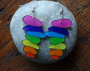colorful Pebble earrings