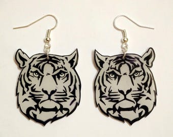 tiger head earrings