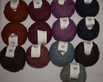 Mixed Job Lot 13X50g Rowan Felted Tweed DK  50%Merino Wool 25Alpaca 25Viscose 650g Knitting Wool