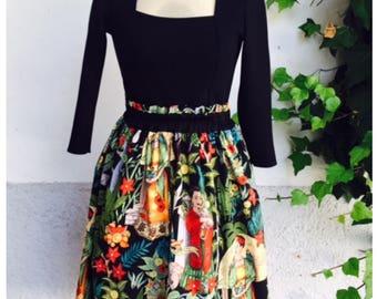 Frida ruffle skirt black