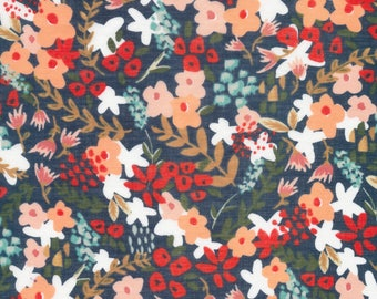 "SALE Frolic Batiste Fabric ""Wilder"" By Sarah York For Cloud 9 Fabrics; Pattern 158912; 100% Certified Organic Cotton Fabric"
