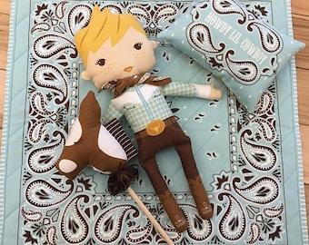 Moda Fabrics 'Howdy lil' Cowboy' Howdy Dolls panel