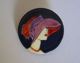 Brooch mod/brooch Style Léa Stein/antiquityfrench/brooch pin/Hippie Bohemian/http://lesreinesdushopping.blogspot.fr/