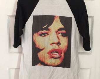 Mick Jagger bbaseball t-shirt, size medium