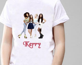 Little Mix Fan Personalised T-Shirt, Printed With Any Name.