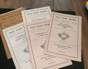 Old Fort News- Lot of 4-Publications from 1940s/1950s-Fort Wayne, IN