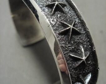 Belangrijke Navajo aAäron Anderson 'Silver Star' armband