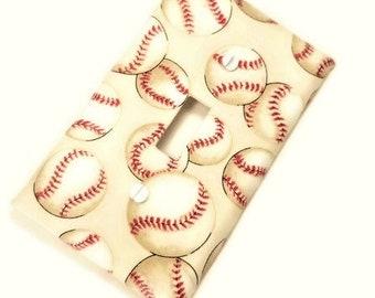 Baseball Nursery Decor | Baseball Home Decor |  Baseball Light Switch Cover | Boys Bedroom Decor | Boys Nursery | Baseball Decor