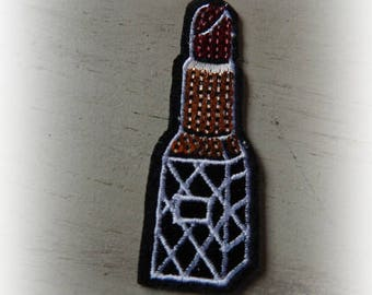 1 patch fusible patch / applique tube of lipstick 2.7 * 7.5 cm