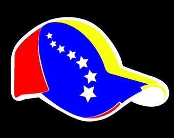 Gorra Venezuela Hat Car sticker