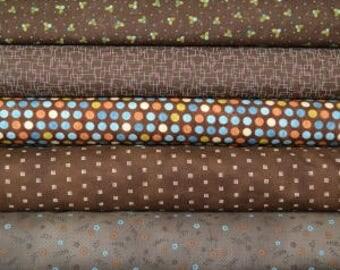 Brown fat quarter fabric bundle