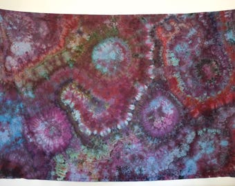 Intergalactic Ameobas Ice-Dye Tapestry