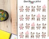 Cute Fox Planner Stickers | Fox Stickers | Winter Stickers | Winter Fox Stickers | Cute Fox Stickers | Funny Fox Stickers (S-081)