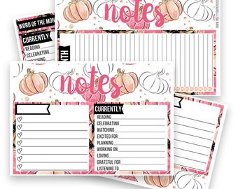 Jessica Notes Pages Kit - Planner Stickers