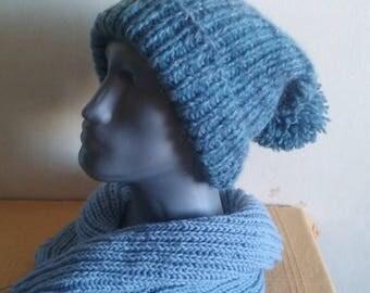"""Blue  hat, men""""s hat, wool hat, warm hat"""