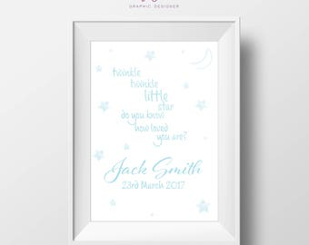 New Baby Print | Twinkle Quote