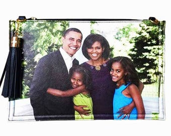 Obama Family Tassel Clutch