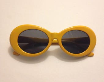 Mod Sunglasses, Orange/Yellow, Retro Futuristic, 1960s Vintage Style