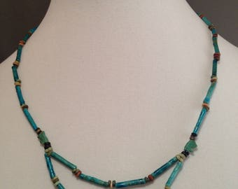 Ancient Egyptian Faience Mummy Bead Necklace, New Kingdom/ Late Period, CA 1567 - 525 BCE