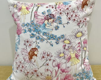 """Fairy Cushion Cover for kids. 18"""" (45cm). Made Australia. Gifts for girls. Fairy Throw Pillow"""