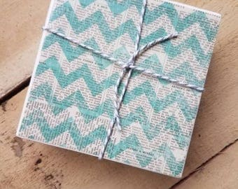 Drinking coasters.  Coasters.  Rustic home decor. Teal home decor.