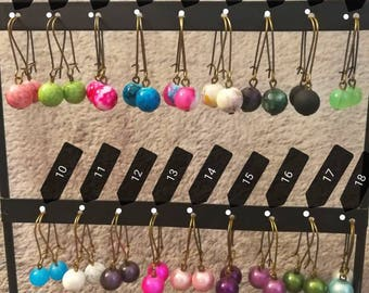 Patterns and colours earrings