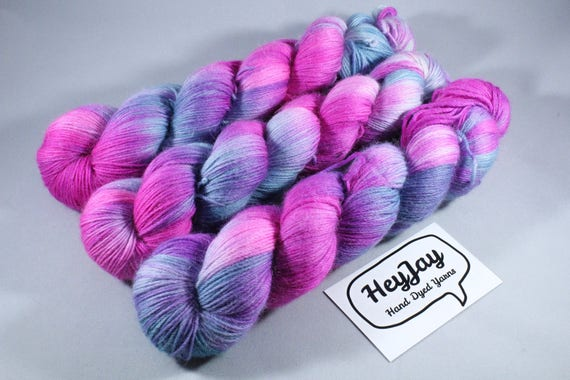 Hand Dyed Sock Yarn, Merino, Alpaca, Nylon Blend - Crush Blush