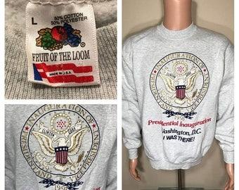 ON SALE 1993 US Inauguration sweatshirt // presidental election // Washington Dc crewneck sweater // Bill Clinton Al Gore // 90s rare Usa ma